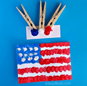 American flag kids craft