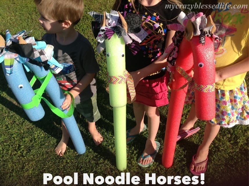 pool noodle horses