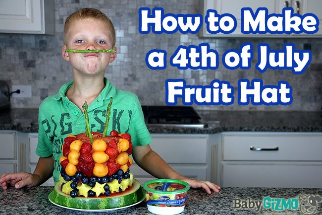 How to Make a 4th of July Fruit Hat
