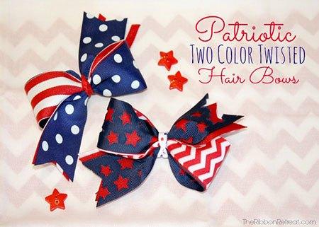 patriotic diy bow