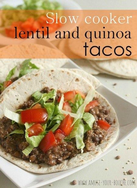 lentil quinoa tacos vegan crockpot recipes