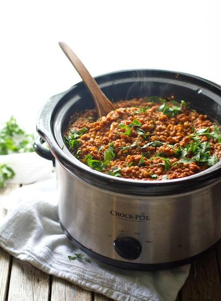 Red Lentil Curry vegan crockpot recipes