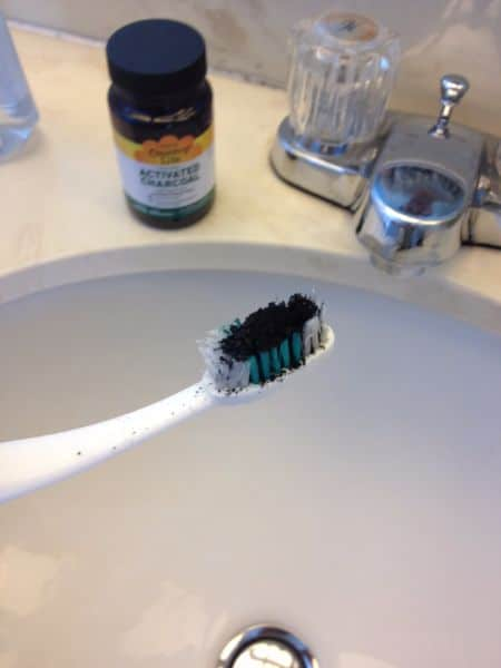 Activated Charcoal whiten teeth