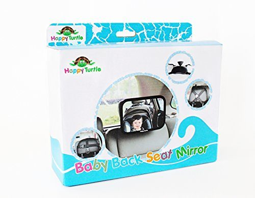 Baby Back Seat Mirror For Rear View Facing Car Seat By Happy Turtle