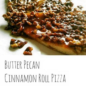 The Incredible Butter Pecan Cinnamon Roll Pizza