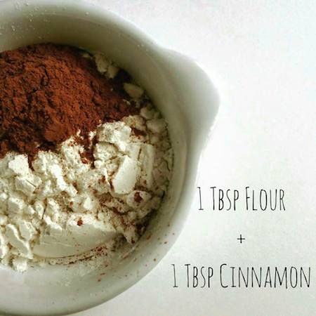 flour and cocoa in a bowl