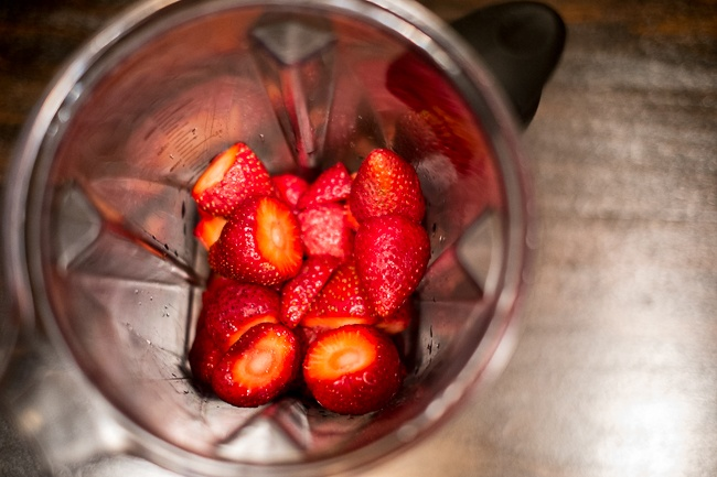 Strawberries in Blender