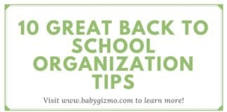 10 Great Back To School Organization Tips