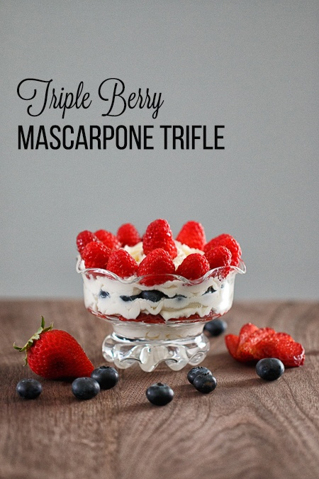 Triple Berry Mascarpone Trifle