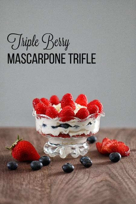Triple Berry Mascarpone Trifle