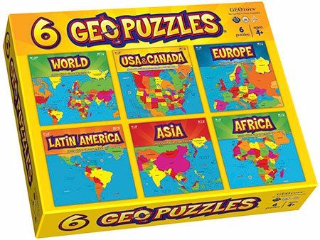 Teach Geography to your Toddler with GeoPuzzles