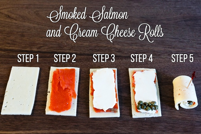 Smoked Salmon and Cream cheese rolls