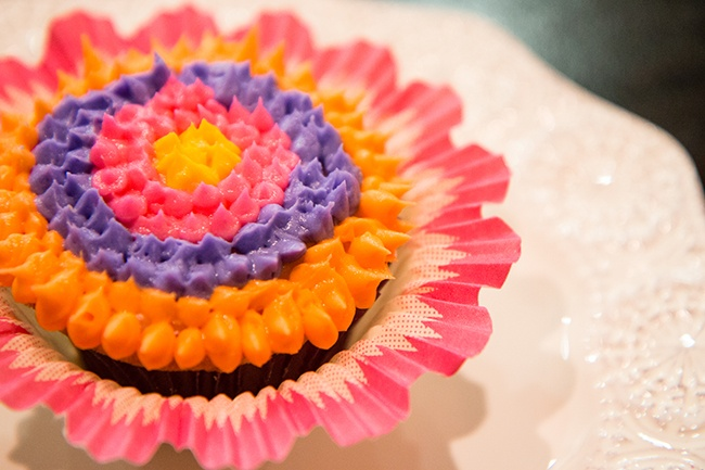 How To Make A Whimsical Flower Cupcake