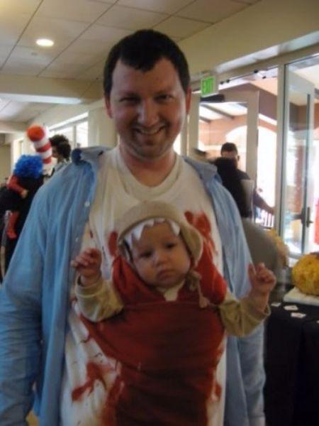 alien baby wearing costume