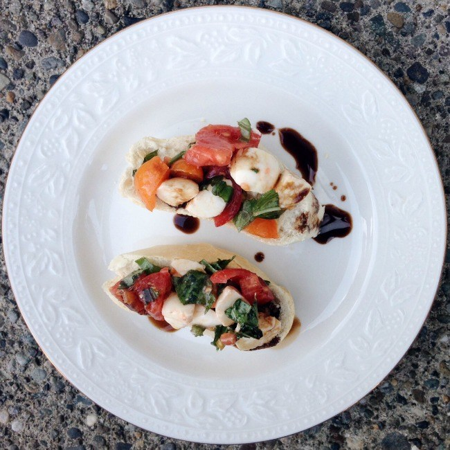 Italian Caprese Salad Appetizer