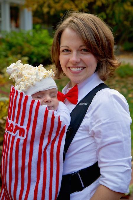 popcorn baby wearing costume