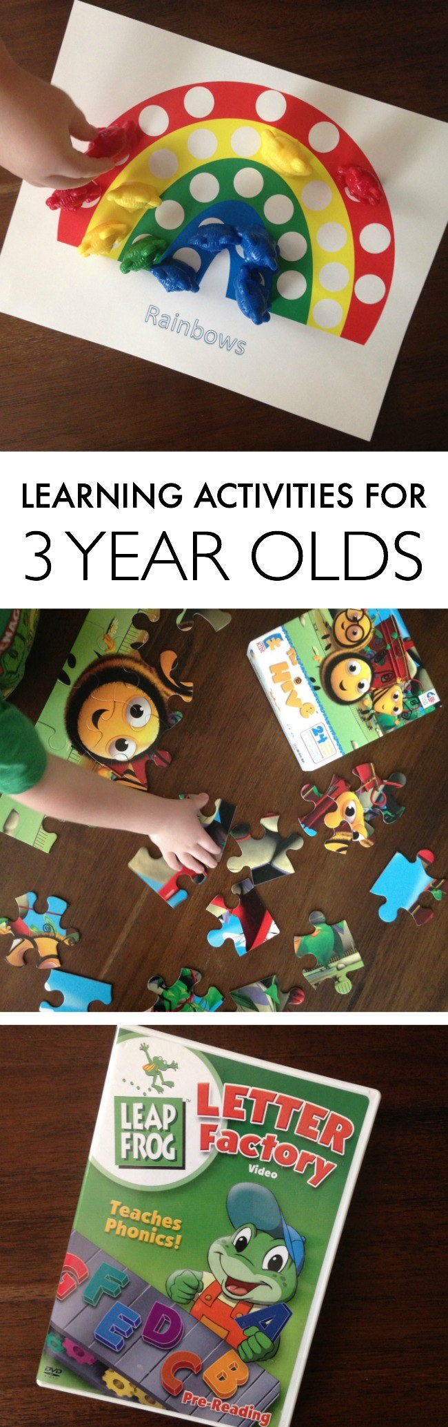 learning activities for 3 year olds