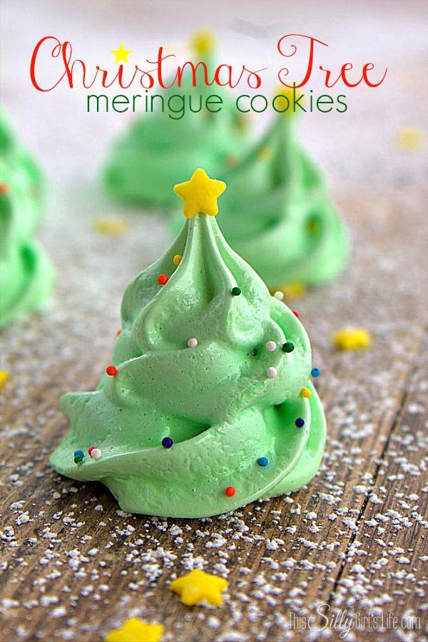 Christmas Cookie Recipes Tree Meringue Cookies