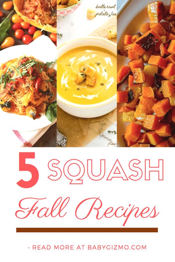 5 Delicious Fall Squash Recipes