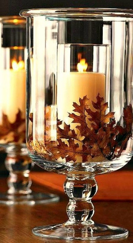 thanksgiving hurricane vases