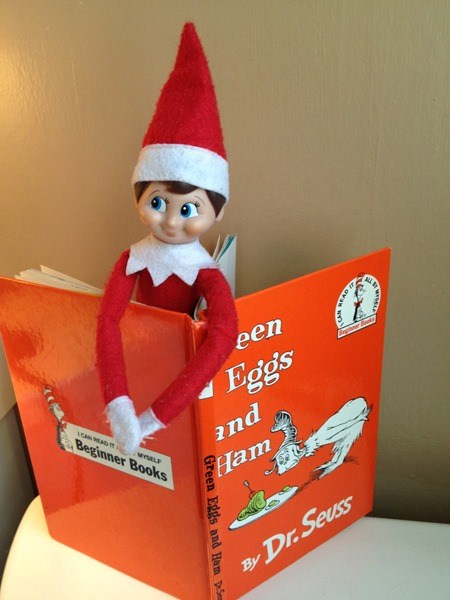 Elf-on-the-Shelf-reading-a-favorite-book