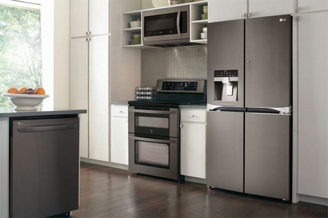 LG Black Stainless Steel Kitchen