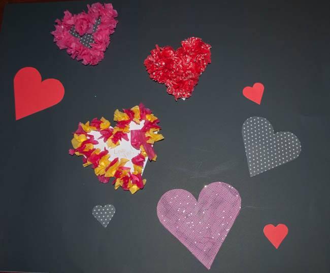 heart attack tissue paper hearts