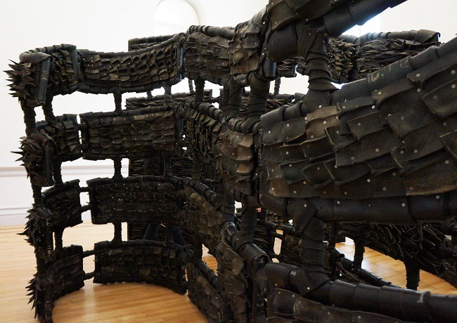 ANONYMOUS DONOR by Chakaia Booker at Renwick Gallery