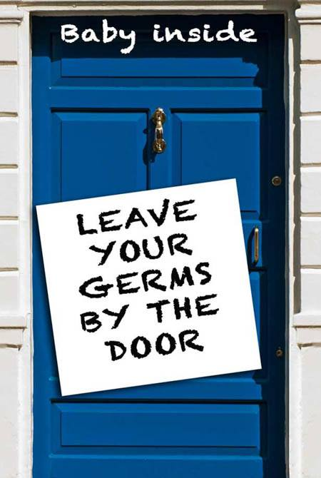 Germs by the door types of visitors