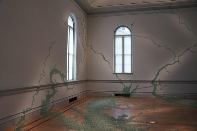 Folding the Chesapeake by Maya Lin at Renwick Gallery