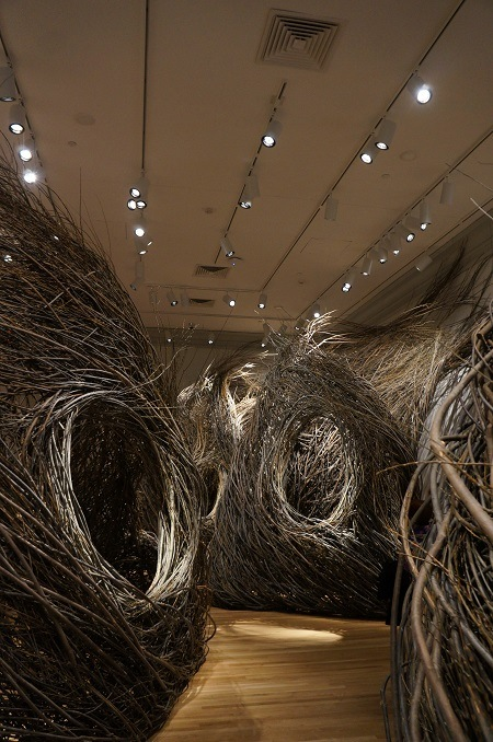 Shindig by Patrick Dougherty at Renwick Gallery