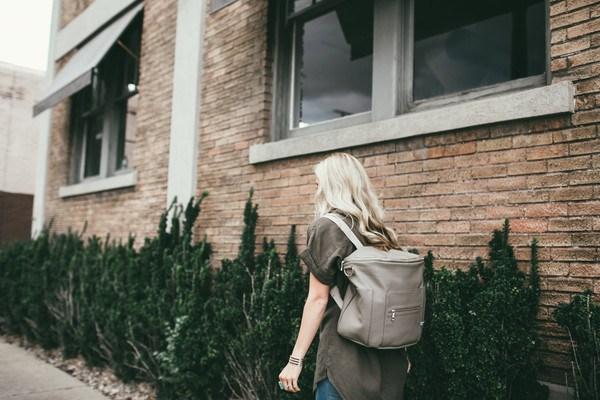 fawn design bag on model