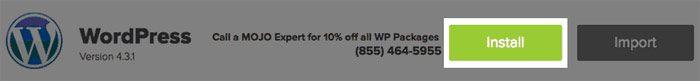 wordpress install graphic