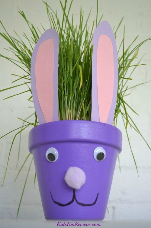 bunny flower pot