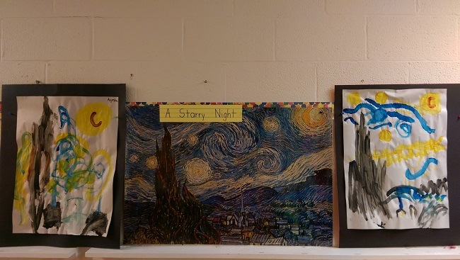 a starry night by Vincent van Gogh preschool edition