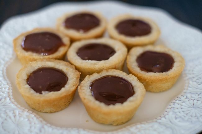 Mini Salted Caramel Chocolate Tarts