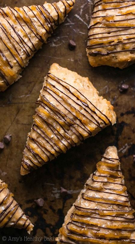 samoa cookie scones