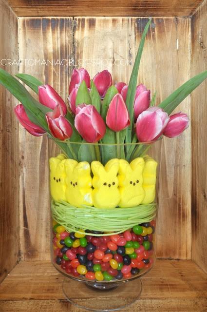 tulip easter centerpiece