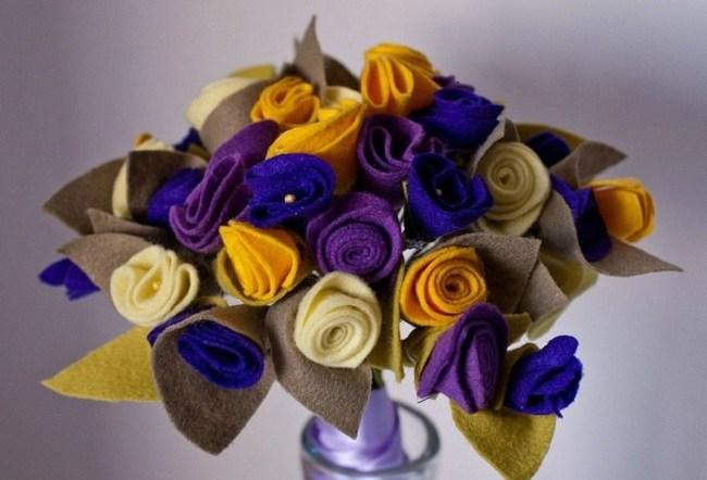 DIY mother's day gift idea felt-flower bouquet
