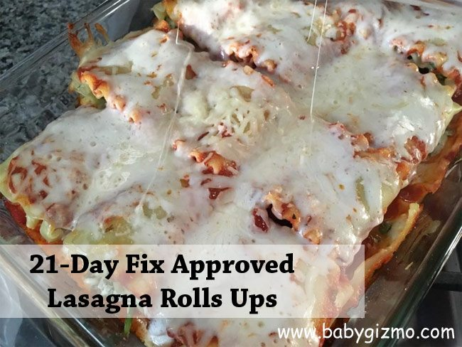 Spinach Turkey Lasagna Roll Ups Recipe | 21 Day Fix Approved
