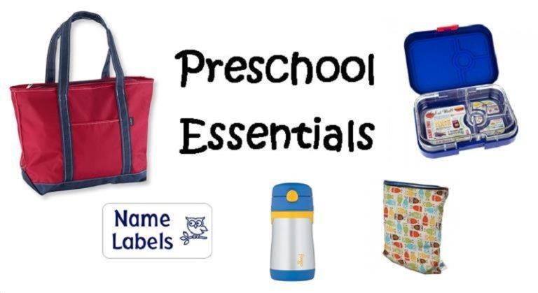 No Backpacks: Preschool Essentials