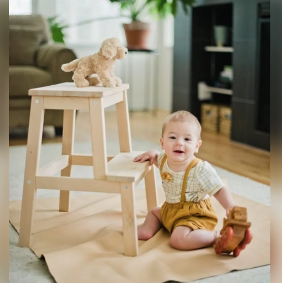 leather baby mat