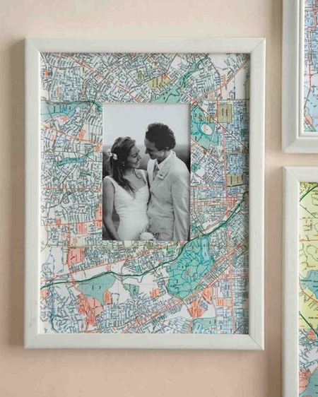 DIY mother's day gift map photo frame