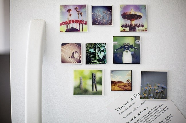 DIY mother's day gift photo magnets