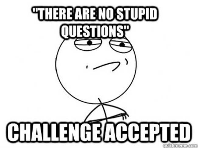 questions challenge accepted