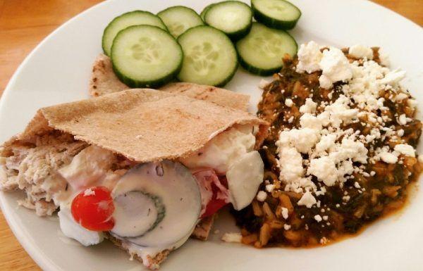 Recipe Greek Slow-Cooker Chicken with Spanakorizo