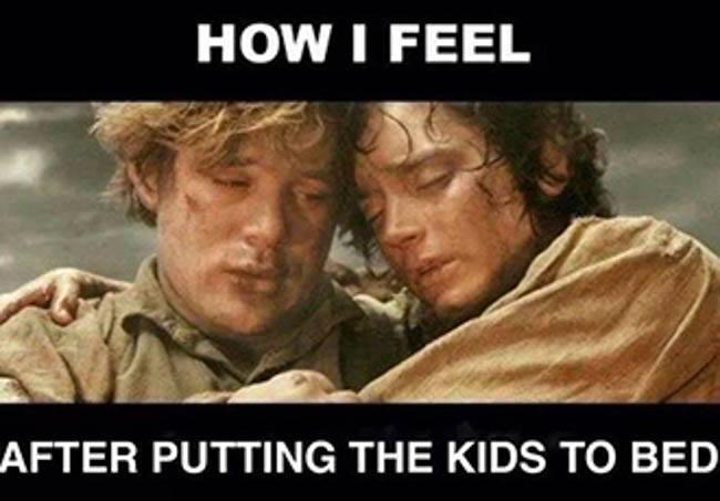 after kids bed LOTR best