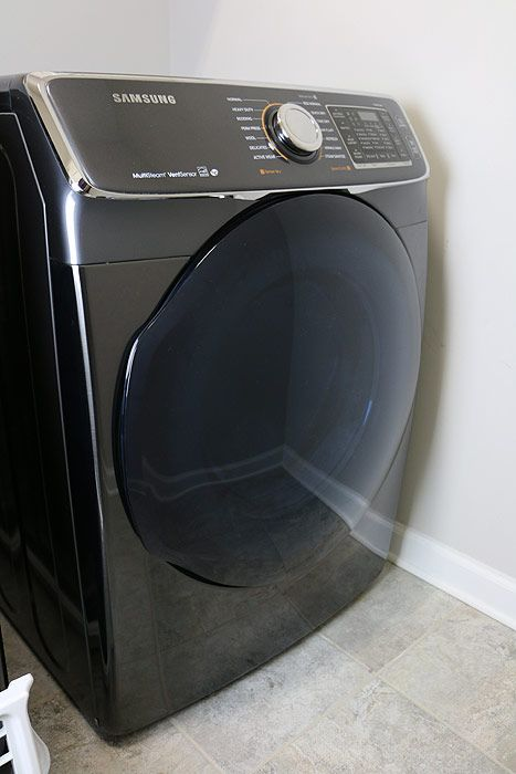 front of samsung dryer