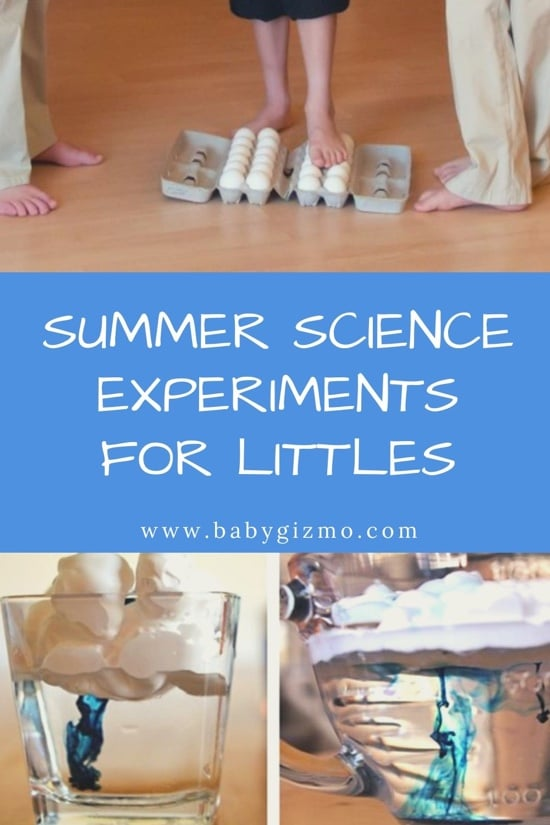 Summer Science Experiments for Littles