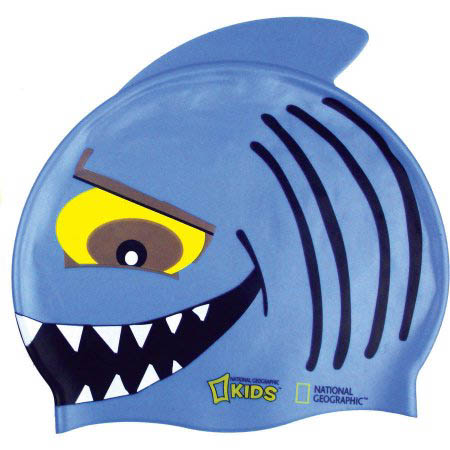 boy shark swim cap
